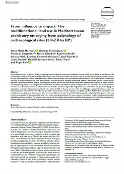 From influence to impact: The multifunctional land use in Mediterranean prehistory emerging from palynology of archaeological sites (8.0-2.8 ka BP)