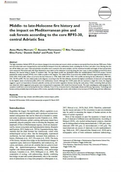 Middle- to late-Holocene fire history and the impact on Mediterranean pine and oak forests according to the core RF93-30, central Adriatic Sea